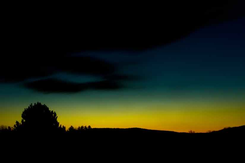 dawn nature sunset dark